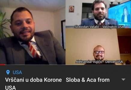 Vrščani u doba Korone - Sloba i Aca iz Amerike (VIDEO)