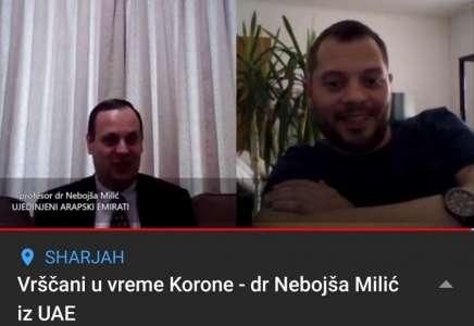 Vrščani u doba Korone - dr Nebojša Milić za mojkraj.rs iz Emirata (VIDEO)